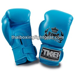 Top King Muay Thai boxing gloves TKBGDL double lock Neon turquoise