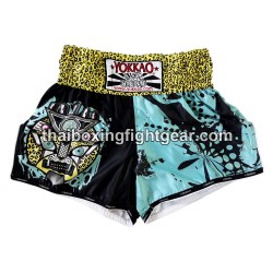 Yokkao Carbon Fit Muay Thai Gear Boxing Shorts Apex Leopard