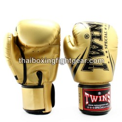 """Twins Special Fancy FBGVS3 Boxing Gloves """"Beginner Edition"""" Gold PU"""