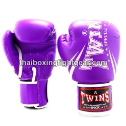"Twins Special Fancy FBGVS3 Boxing Gloves ""Beginner Edition"" Purple PU"