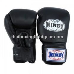 Windy Thaiboxing Gloves Black