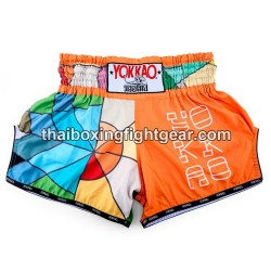 Yokkao Carbon Fit Muay Thai Gear Boxing Shorts Good Vibes