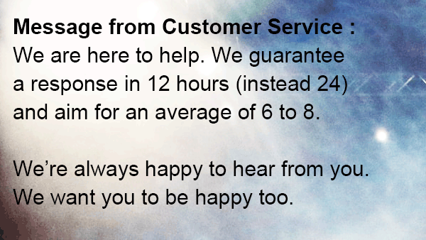 customer service here to help